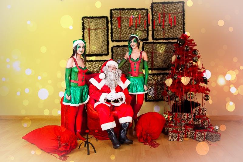 papanoel y elfos
